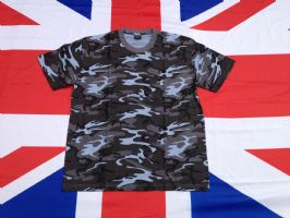 ## NEW ## BLUE URBAN CAMO T SHIRT